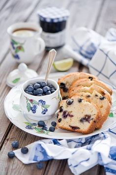 Blueberry bread.
