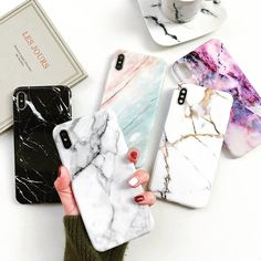Baseus Simple Case Ultra-thin Clear Soft TPU Back Cover Fashion Colorful Case For iPhone 8 Plus / iPhone 7 Plus - Transparent Blue Iphone 7, Best Iphone, Coque Iphone, Apple Iphone, Iphone Cases, Marble Iphone Case, Marble Case, E Commerce, Samsung Cases