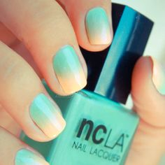 NCLA Santa Monica Shore Thing and Poolside Party All Eyes On Me gradient nails!