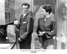 """laura"" starring dana andrews, gene tierney (1944, dir. otto preminger)"