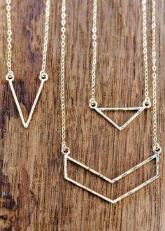 Leonani necklace - gold triangle necklace