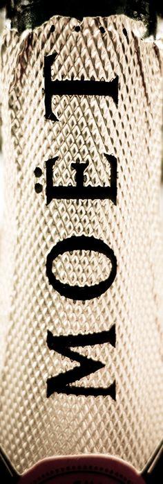 Moet Champagne, close up photograph of bottle neck. Moet,champagne,Moet and Chandon,sparkling,wine,bottle,label,photo,photograph