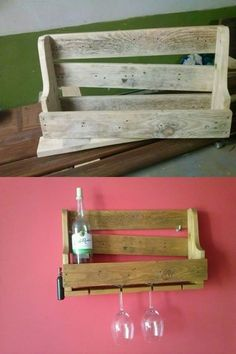 wine shelf from pallet wood by myself