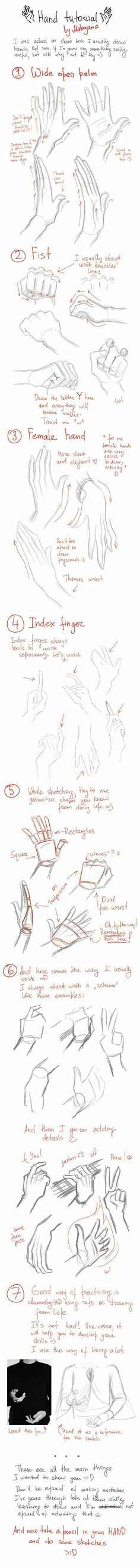 Hand Tutorial, text, hands; How to Draw Manga/Anime #Drawingtips