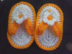 Free Baby Flip Flops Crochet Pattern