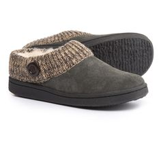 a04bb285e Clarks Sweater Button Clog Slippers - Suede (For Women)