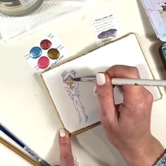How to paint a fairy in a mini sketchbook - beginner tips for learning how to draw people the easy way Watercolor Sketchbook, Watercolor Print, Watercolour Paintings, How To Make Drawing, Figure Drawing, Fancy Watches, Step By Step Watercolor, Sketchbook Project, People Videos
