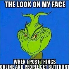 The look on my face when I post things online and people get butthurt - What they say is true. Some people cant handle the truth.