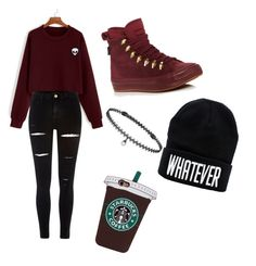 """""""Untitled #1"""" by suefashionwardrobe on Polyvore featuring River Island, Converse and BERRICLE"""