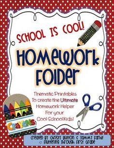 Make your own homework folders. School is Cool!