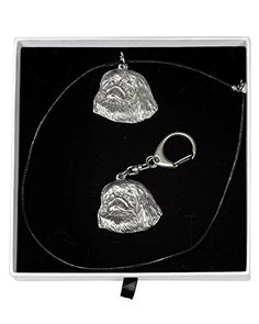 NEW, Bullterrier , dog keyring and necklace in casket, ELEGANCE set, limited edition, ArtDog -- Read more reviews of the product by visiting the link on the image.