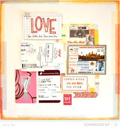 scrapbook layout by #AmyTan using #StudioCalico Marks & Co. #MonthlyKit