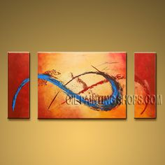 Hand-painted Beautiful Modern Abstract Painting Wall Art Artwork Pictures. In Stock $135 from OilPaintingShops.com @Bo Yi Gallery/ ops9133