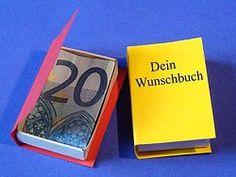 Geldgeschenk Buch