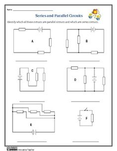 Series and Parallel Circuits Worksheets #Circuitsreview, #Electricity