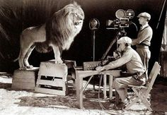 Filming the MGM Grand lion roar 1929