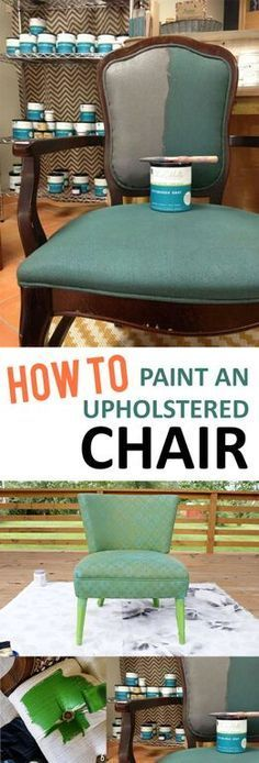 diy furniture chair Easy step by step instructions to help you paint any of your upholstered furniture! This fun idea will transform any piece of furniture! Diy Furniture Easy, Paint Furniture, Upholstered Furniture, Repurposed Furniture, Furniture Projects, Furniture Makeover, Furniture Outlet, Furniture Stores, Discount Furniture