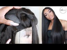 HAIR | EASY TUTORIAL MAKE A WIG START TO FINISH & POST INSTALL REVIEW • ALIGRACE BRAZILIAN STRAIGHT - YouTube