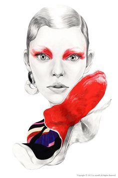 [The Lure of the RED] mina k illustration / minakim8288@gmail.com