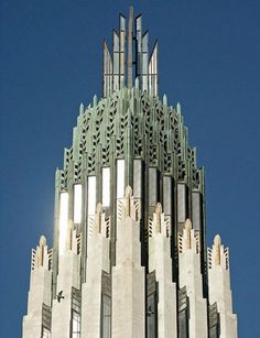 Art Deco church spire