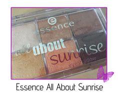 review - essence all about sunrise eyeshadow palette Hello Everyone, Eyeshadow Palette, Swatch, Sunrise, Makeup, Make Up, Beauty Makeup, Sunrises, Bronzer Makeup