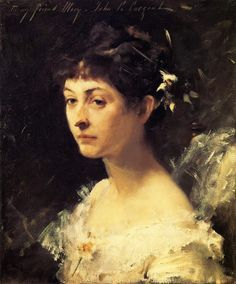 """""""Mary Turner Austin"""" (c. 1878) John Singer Sargent. Oil on canvas. Private Collection"""
