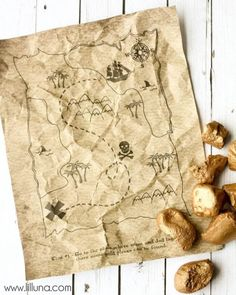 How to Make a Treasure Map   Fun with Kids   Pinterest   Map crafts     Printable Treasure Map Kids Activity   Free Coloring Pages and Scavenger  Hunt   lilluna com