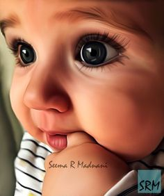 Baby 9 by SeemaRMadnani on DeviantArt Baby Portraits, Indian Paintings, Craft Gifts, Art Sketches, Military, Deviantart, Digital, Kids, Portraits
