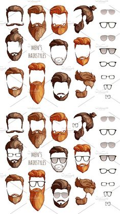 hairstyles, beards glasses is part of Beard glasses - Mens Hairstyles With Beard, Hairstyles With Glasses, Haircuts For Men, Barber Haircuts, Beard Styles For Men, Hair And Beard Styles, Hair Styles, Crew Cut Hair, Gents Hair Style
