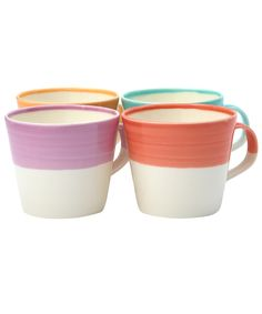 Set of Four Bright Tapas Mugs, Royal Doulton. Shop more kitchenware from the Royal Doulton collection online at Liberty.co.uk.