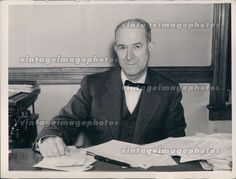 1936 Judge Jno Mack Smiling Man Seated Desk Business Suit Working Press Photo
