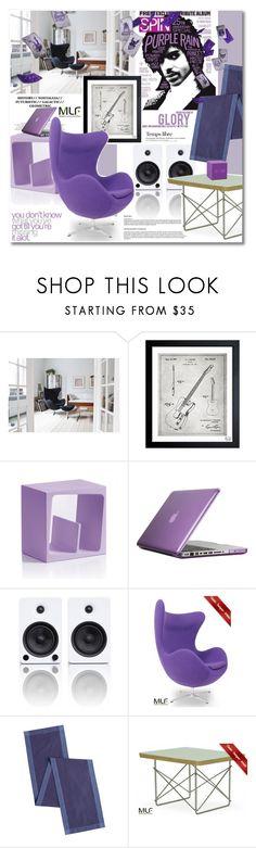 """Purple rain, purple rain"" by undici ❤ liked on Polyvore featuring interior, interiors, interior design, home, home decor, interior decorating, Oliver Gal Artist Co., B-Line, Speck and Kanto"