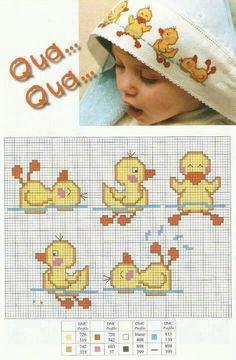 pinterest point de croix serviette de bain bébé - Recherche Google