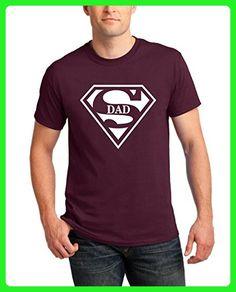 4376af1b T-Shirts for Men Super DAD Superman Designed Men's Funny Tees Round Neck  Shirts(