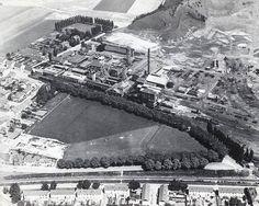 Luchtfoto van de O.N.2 mijn, Eikske, Schaesberg.