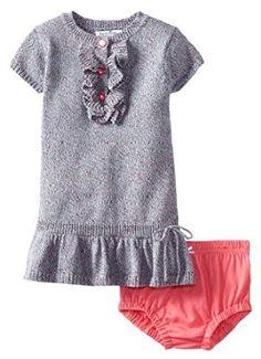 Hartstrings Baby Girls Sweater Dress with Diaper Cover Spacedye 18 Months *** Details can be found by clicking on the image. (This is an affiliate link) #BabyGirlDresses