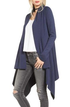 Love by Design Two-Tone Open Front Cardigan