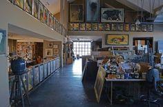 Richard Murray's art studio. Photo by Sarah Greenman.