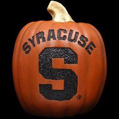 Syracuse Orange Pumpkin... I want one!