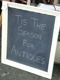 My Salvaged Treasures: old frame painted and turned into a chalkboard