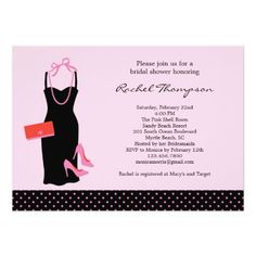 LBD Bridal Shower Invitation