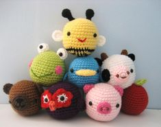 You have to see Animal Amigurumi Toys for Baby by Amy Gaines!