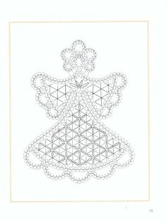 Angeles de bolillos - Marina - Álbumes web de Picasa Bobbin Lace Patterns, Bead Embroidery Patterns, Beaded Embroidery, Machine Embroidery, Stitch Patterns, Lace Art, Craft Images, String Art Patterns, Crochet Angels