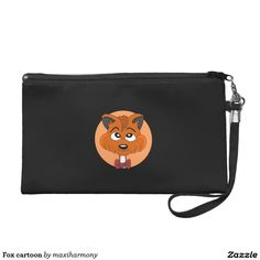 Fox cartoon wristlet clutches