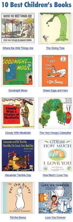 "Top 100 Childhood books.    I'm so happy to see ""Love You Forever"" on there!  My sister had that book and my mom got it for me to read to my 1st baby.  I love the message it has :)   .. and I REALLY want ""Goodnight Moon""!"