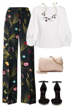 """outfit 5864"" by natalyag ❤ liked on Polyvore featuring Fendi, TIBI, Yves Saint Laurent, Kate Spade and LC Lauren Conrad"