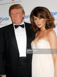 Donald Trump and Melania Trump during 'The Smile Collection' - Operation Smile's Annual Charity Dinner and Live Auction at Skylight Studios in New York, NY, United States.