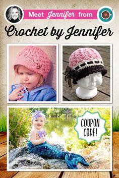 Crochet Pattern Designer Spotlight:  Crochet by Jennifer and a sale!
