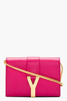 2af5334f94a SAINT LAURENT Fuchsia Leather Foldover Y Satchel on shopstyle.com Coach  Purses Cheap, Coach