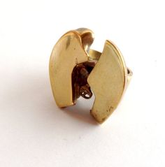 "Björn Weckström for Lapponia Jewelry, Flame Bronze ""Henry J"" vintage modernist ring, 1970's. #Finland 